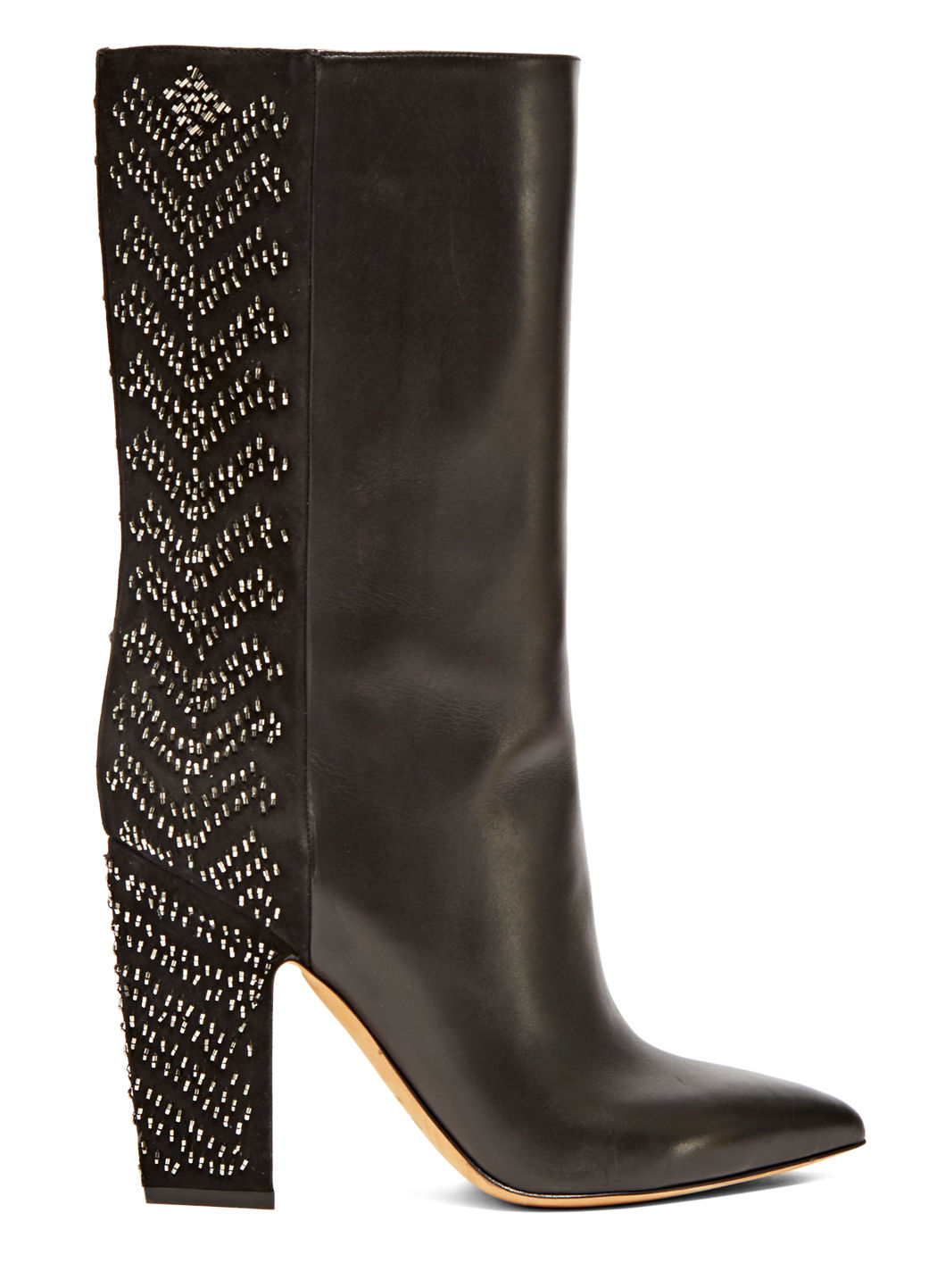 Valentino Women's Long Sequin Embroidered Boots In Black