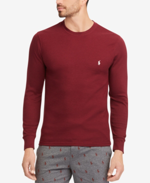 Crew Neck In Tall Waffle Classic Men's Knit Wine Shirt xtoQdhBsrC