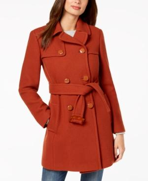 356304d17209 Kate Spade New York Double-Breasted Coat In Cinnamon Powder