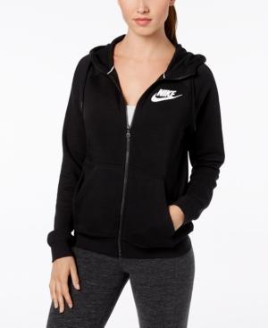 86ad904fed38 Nike Sportswear Rally Fleece Zip Hoodie In Black White