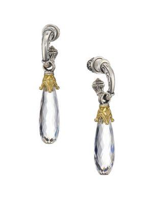 Konstantino Pythia Crystal, Sterling Silver & 18K Yellow Gold Post Earrings In Multi