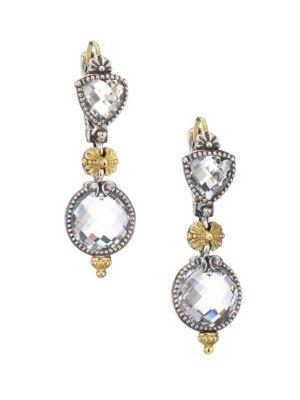 Konstantino Pythia Crystal, Sterling Silver & 18K Yellow Gold Drop Earrings In Multi