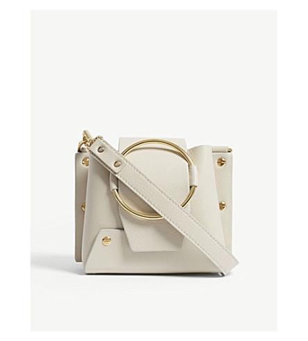 1e0ad1d49d Yuzefi Mini Delila Leather Shoulder Bag In Cream