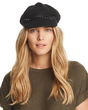 90a0354f August Hat Company Chain-Trim Newsboy Cap In Black | ModeSens