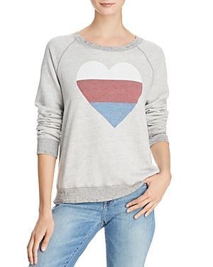 Sundry Heart Distressed Sweatshirt In Gray