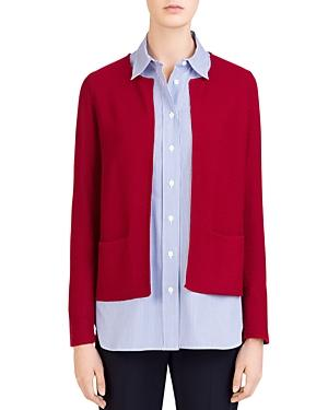 7090e75da Gerard Darel Carole Textured-Knit Open Cardigan In Red