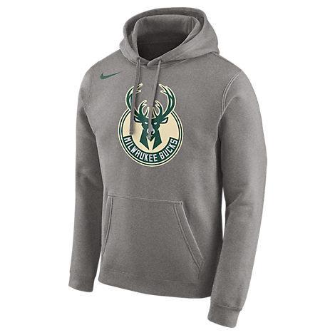 new concept cac13 170ea Men's Milwaukee Bucks Nba City Edition Logo Essential Hoodie, Grey