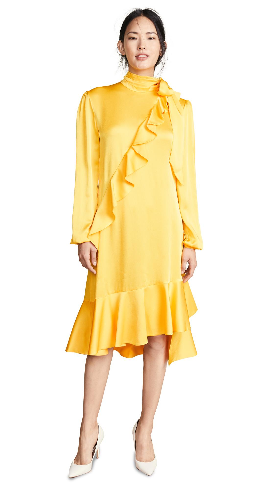 bf00f48dfc15 Marianna Senchina Midi Turtleneck Dress In Yellow