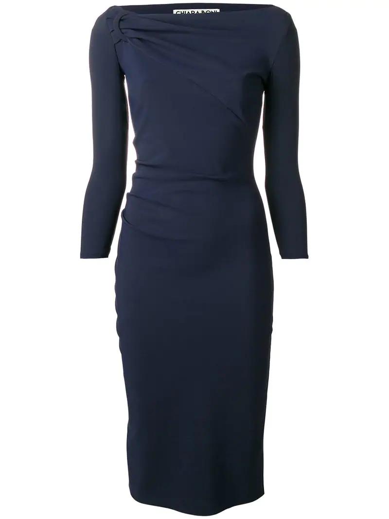 c1e6e4b1ff7 Le Petite Robe Di Chiara Boni Top Knot Tube Dress - Blue