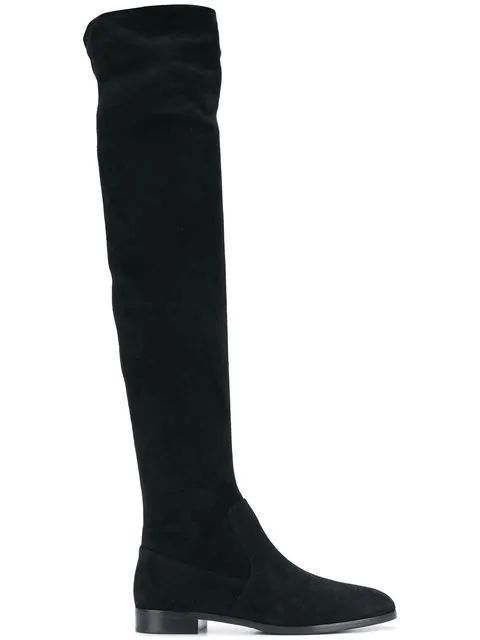 Sergio Rossi Knee-Length Boots In Black