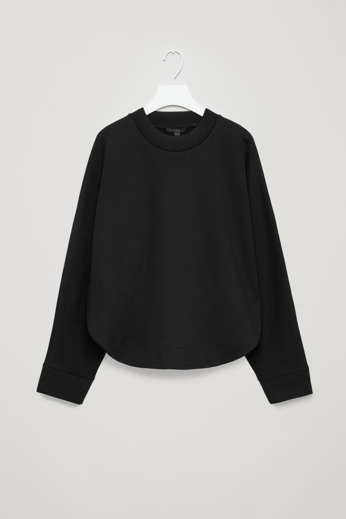 b2f3ed980596 Cos Sweatshirt With Curved Hem In Black