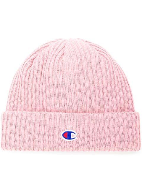 1b39f96a6 Champion Logo Patch Beanie - Pink