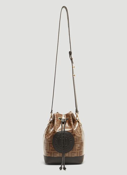 ad0f098ff131 Fendi Mon Tresor Ff Logo Bucket Bag In Brown