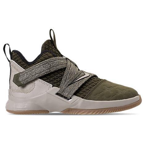 online retailer 143a1 b96ea Boys' Preschool Lebron Soldier 12 Basketball Shoes, Green
