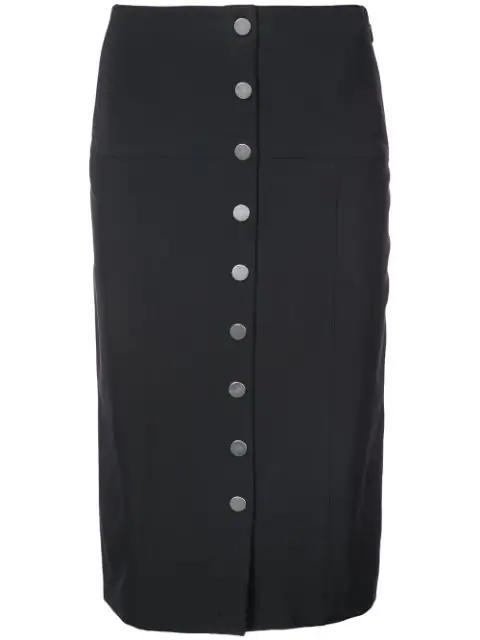 c57519a47 Proenza Schouler Button-Down Pencil Skirt In Black | ModeSens