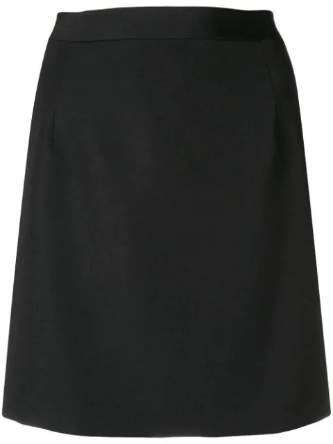Alessandra Rich High Waisted Mini Skirt In Blk Black