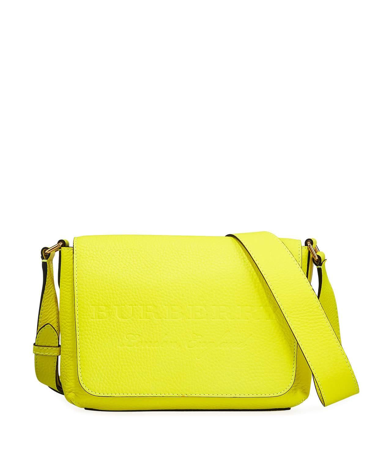 d8b5c3a66a7 Burberry Burleigh Small Soft Leather Crossbody Bag, Yellow | ModeSens