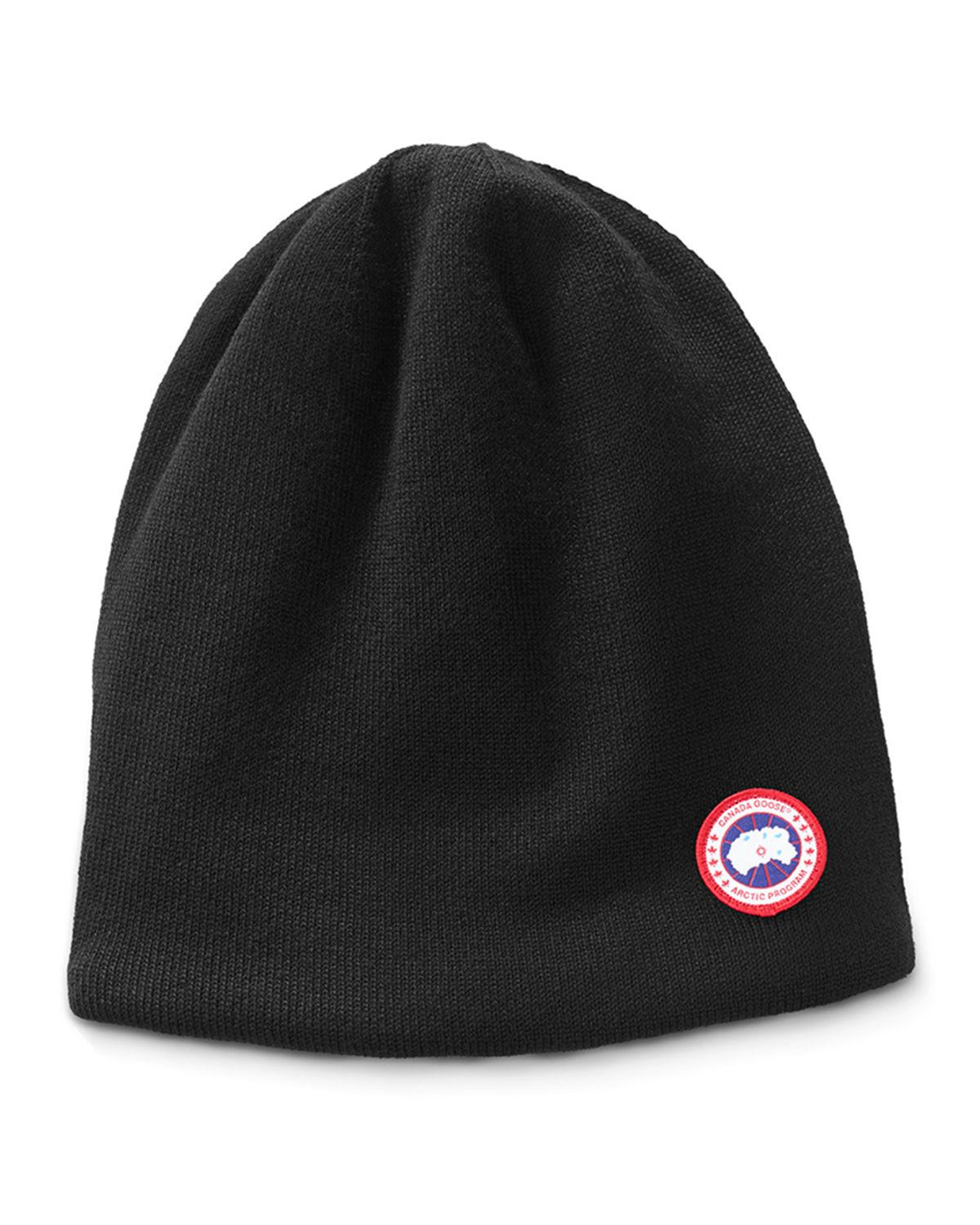 21aab521a28 Canada Goose Men S Standard Logo Toque Winter Beanie Hat In Black ...