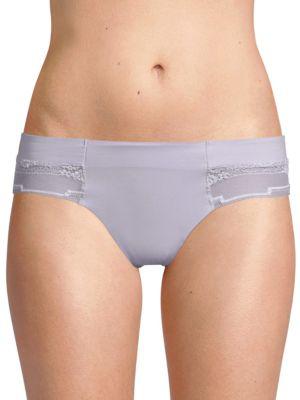 0ecf53c0430 Calvin Klein Ck Black Garden Stripe Lace Thong In Bliss