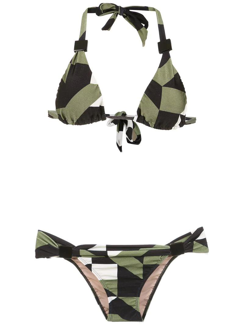 d53982b7a0 Adriana Degreas Triangle Top Bikini Set - Green | ModeSens
