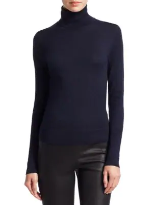 abd47fd4b1 Saks Fifth Avenue Collection Cashmere Turtleneck Sweater In Navy Dusk