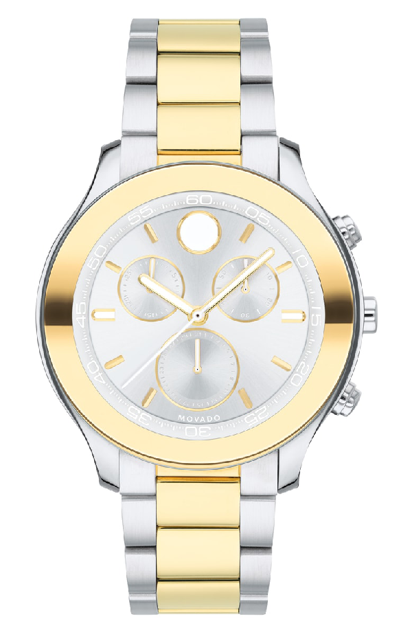 Movado Bold Sport Two-Tone Yellow Gold Chronograph, 39Mm In Silver/ Gold
