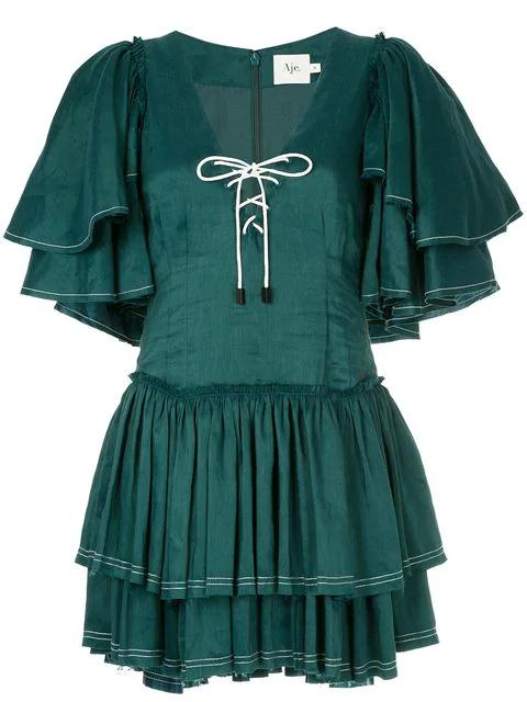 Aje Los Lunas Mini Dress - Green