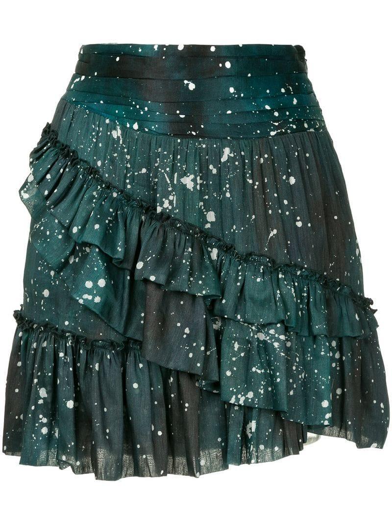 Aje Techado Ruffle Mini Skirt - Green
