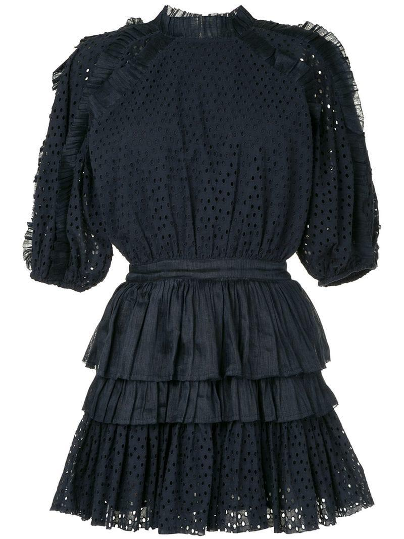 Aje Esqueda Mini Dress In Blue