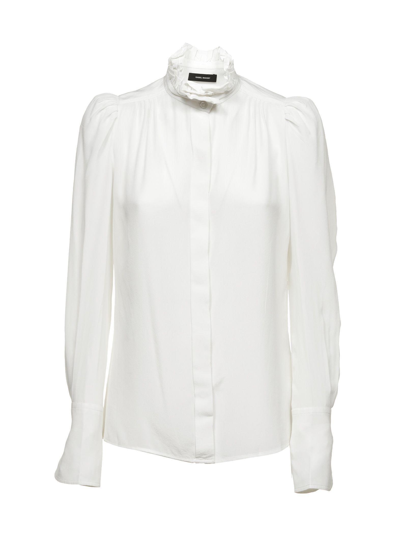 51bf769d8c776 Isabel Marant Lamia Shirt In Ecru