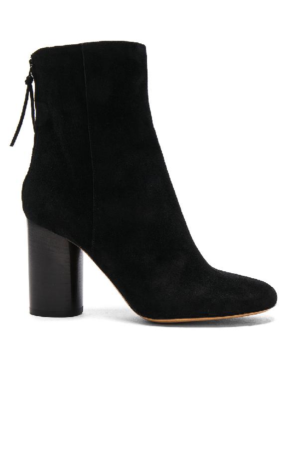 Isabel Marant Garett Velvet Ankle Boots In Black