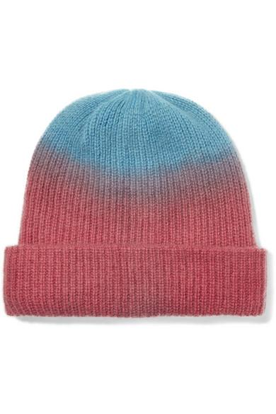 f5513d83b5d The Elder Statesman Watchman Tie-Dyed Ribbed Cashmere Beanie In Red ...
