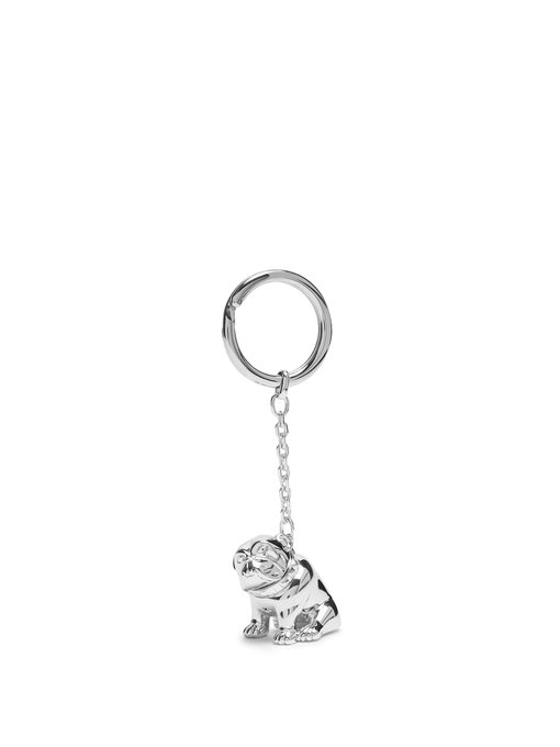 696d2e307b7 Dunhill Palladium-Plated Bulldog Key Chain With Rotating Detail In Silver