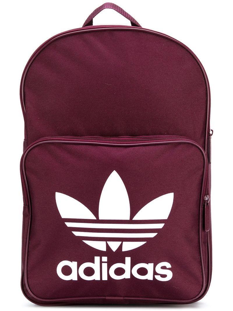 d7133b2c85 Adidas Originals Classic Trefoil Backpack In Red