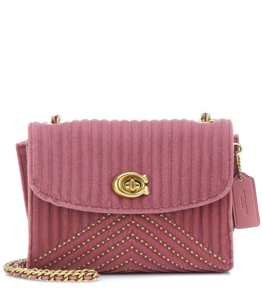 a45227d4ee8 Coach Parker Quilted Velvet Crossbody Bag In Pink | ModeSens