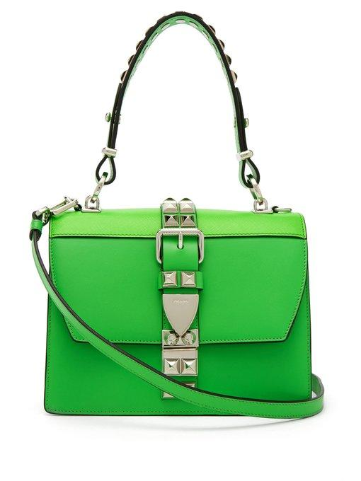 7311ebfef3f3 Prada Elektra Leather Shoulder Bag In Green