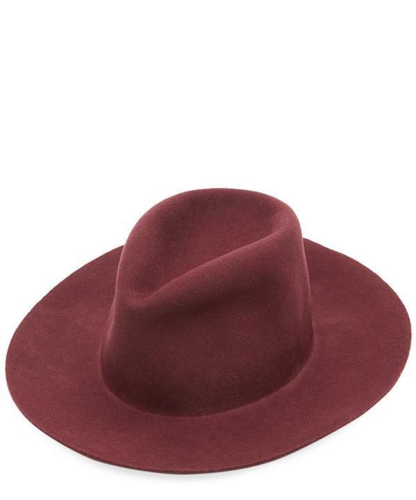aa8b8f07e2632e Clyde Pinch Wool Fedora Hat In Red | ModeSens