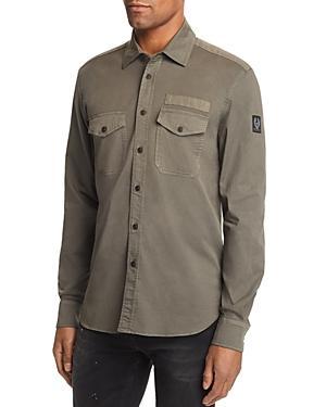 1e0f0d0e3c Belstaff Palterton Regular Fit Utility Shirt In Green Smoke