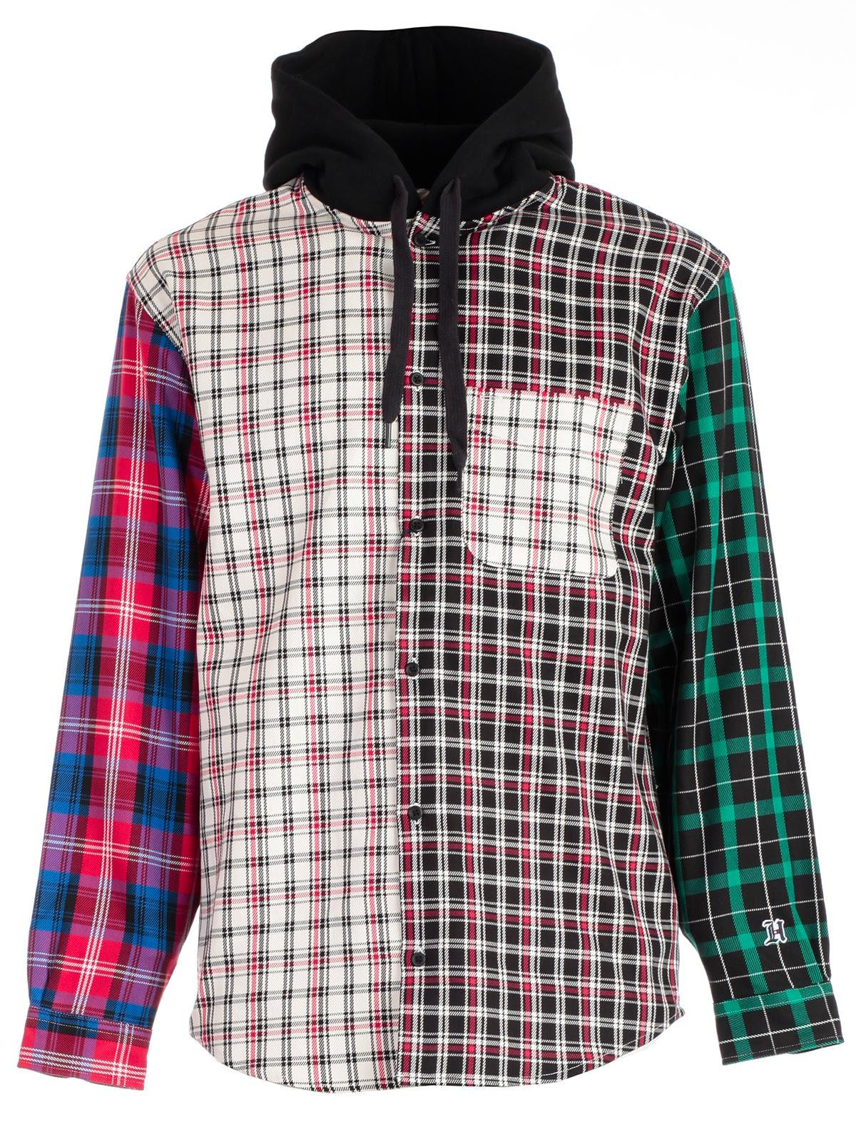 3b1fd281 Tommy Hilfiger Contrast-Checked Hooded Cotton-Flannel Shirt In Black ...