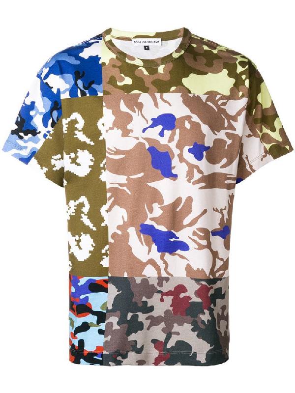 eb2c9e9ac95d8d Gosha Rubchinskiy Cotton Military Print T-Shirt In Multicolour ...