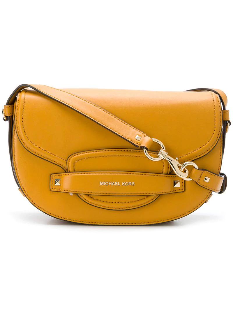 d83b3255da58 Michael Michael Kors Cary Medium Saddle Bag - Orange | ModeSens