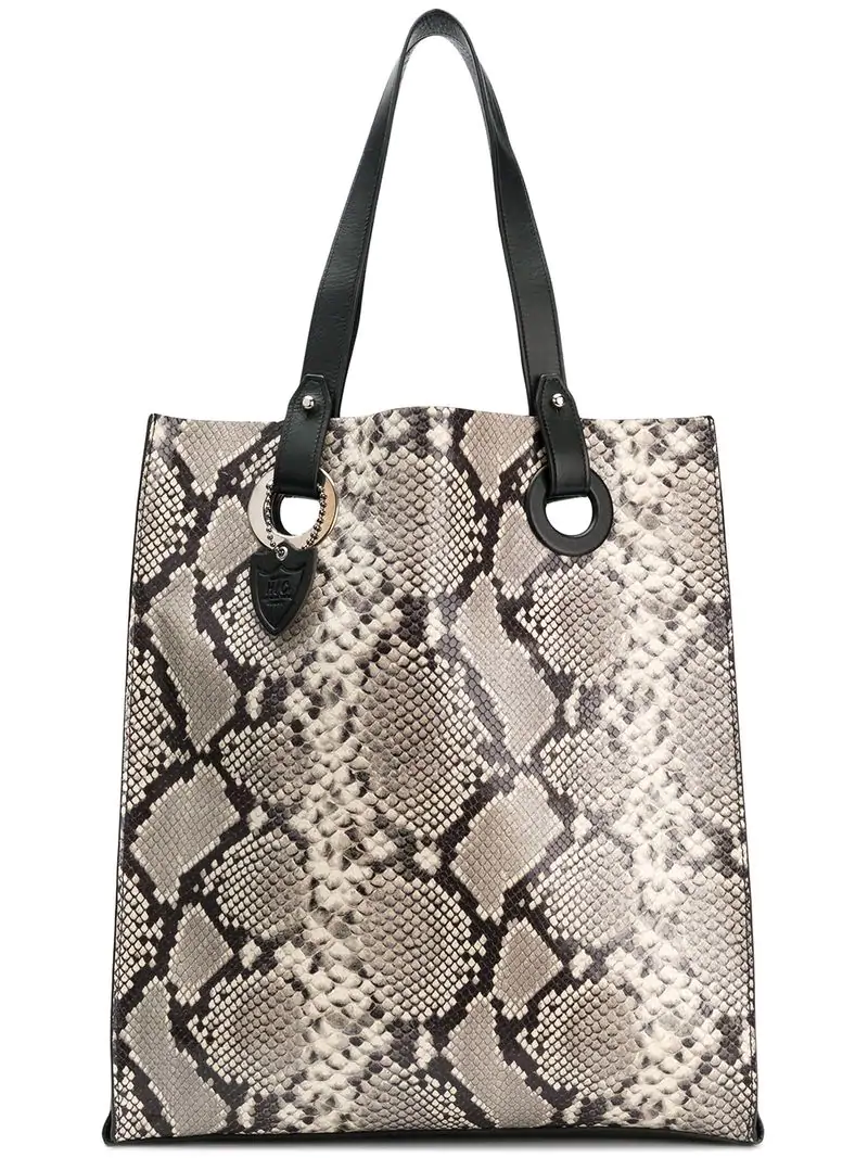 34820281ffd6 Htc Los Angeles Snake Print Tote Bag In Grey