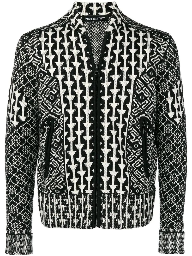 Neil Barrett Knitted Bomber Jacket - Black