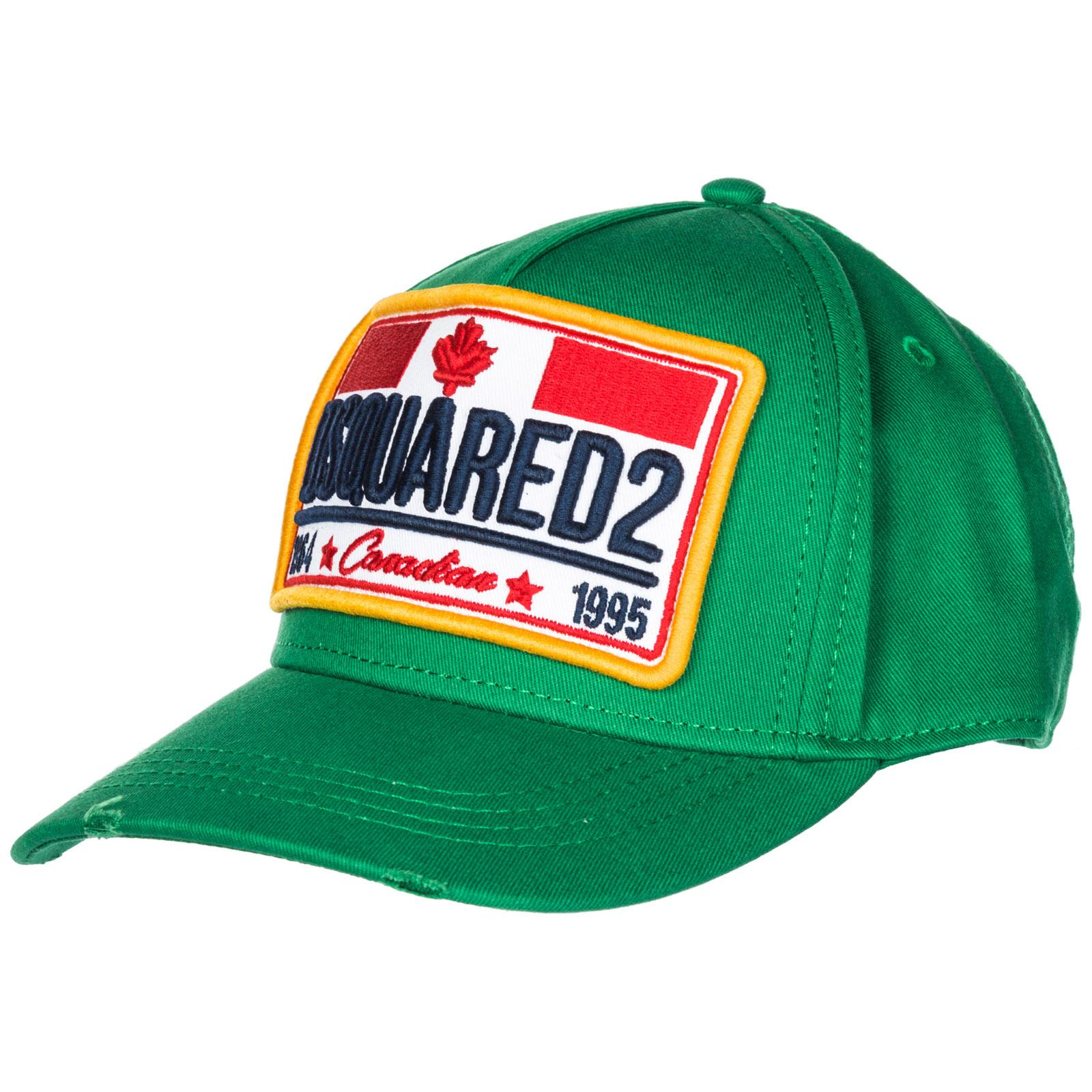0d950a4bf4c4ac Dsquared2 Adjustable Men's Cotton Hat Baseball Cap Canadian Flag In Green