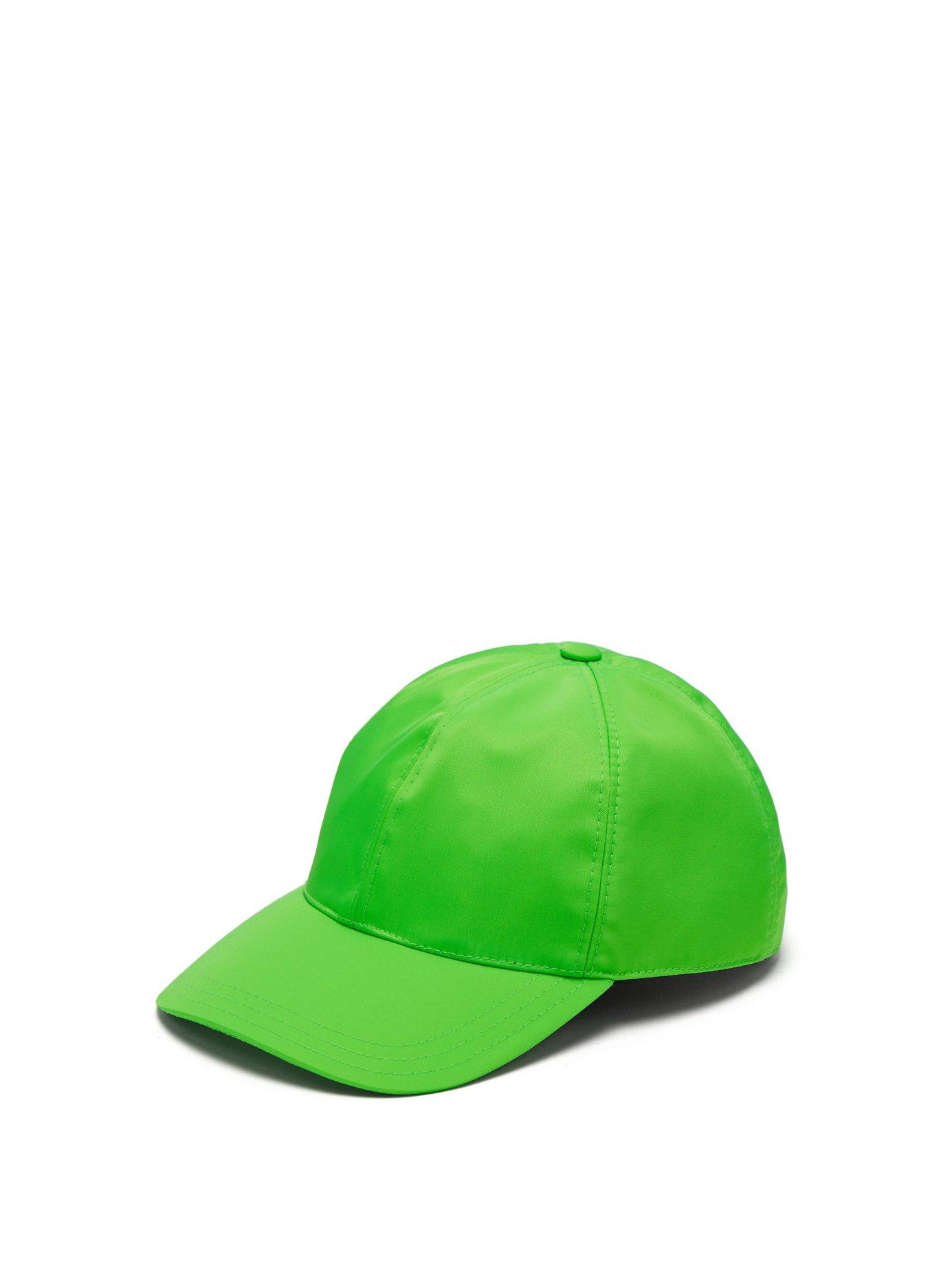 Prada Logo-Plaque Baseball Cap In Green  5a4c34709a53