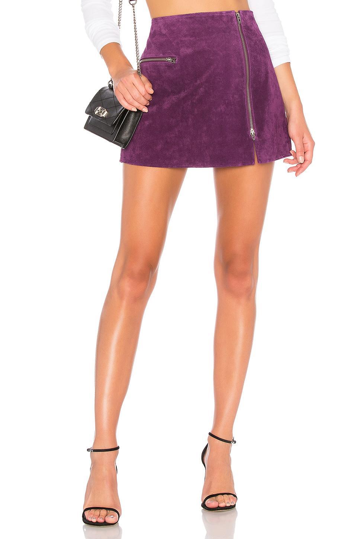 500ac17ef4 Blanknyc Asymmetrical Zip Suede Skirt In Purple | ModeSens