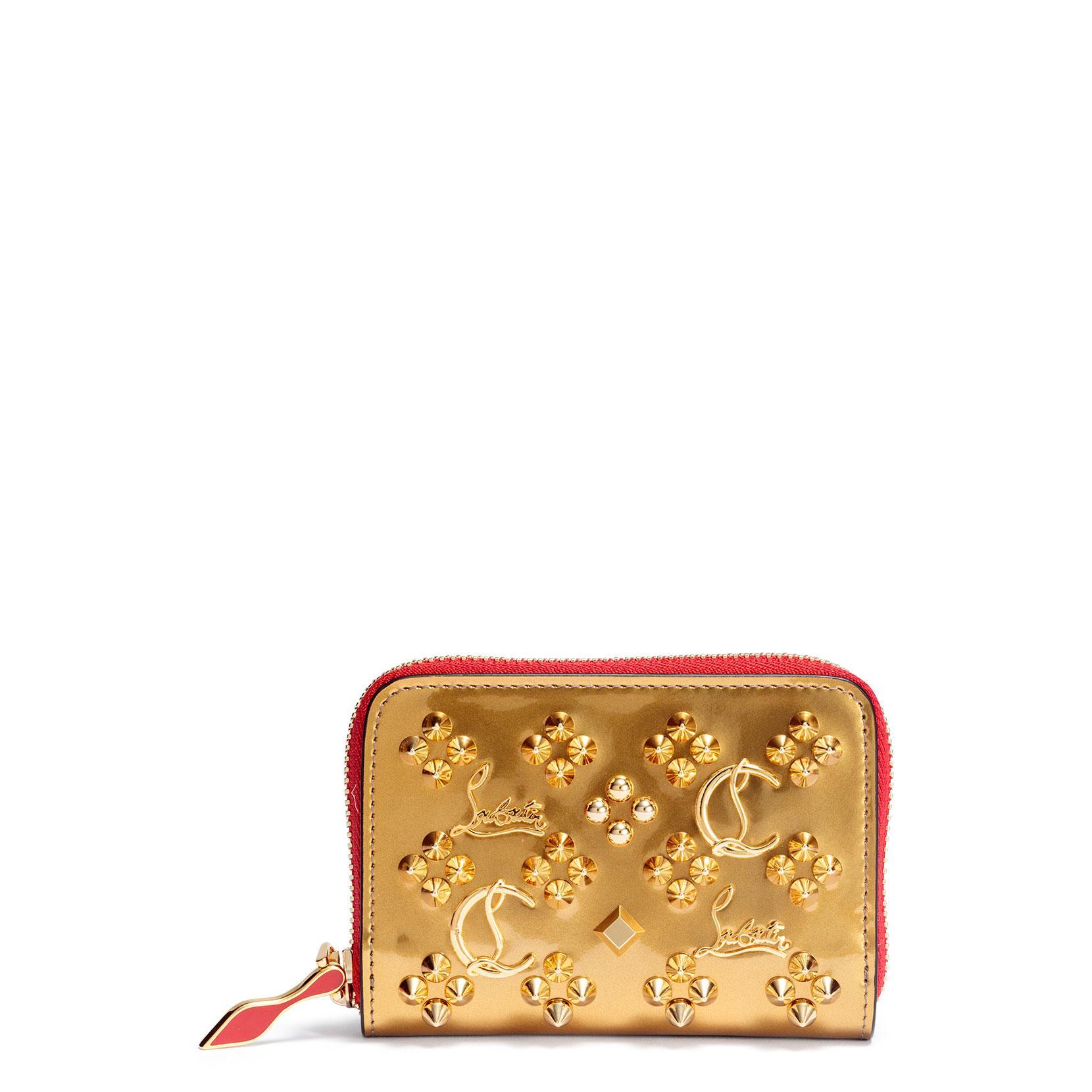 b471b7527ba Panettone Gold Logo Studded Coin Purse in Yellow