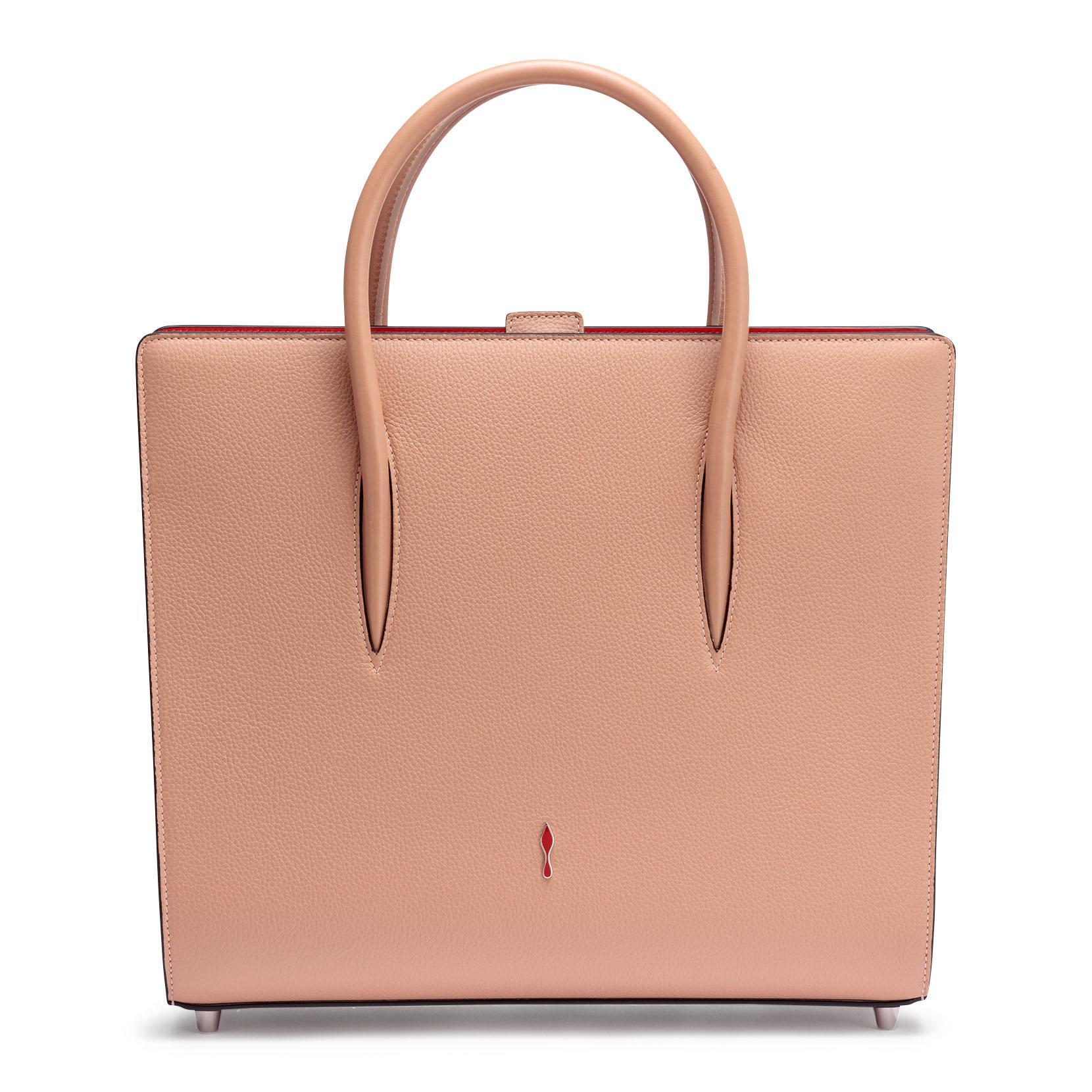 e867f69a9d6 Paloma Large Beige Leather Tote Bag