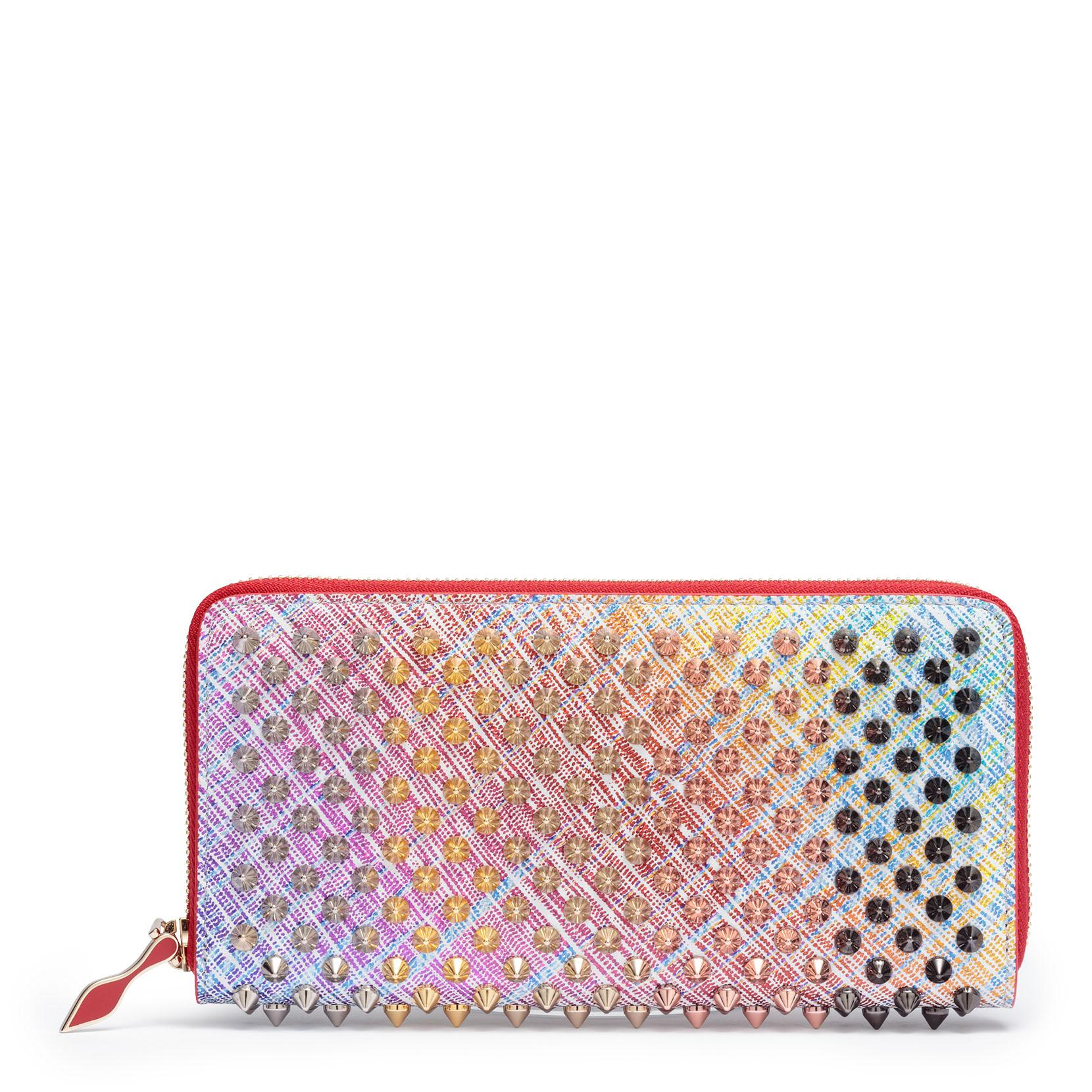 ca0e6caf970 Panettone Unicorn Suede Spikes Wallet in White