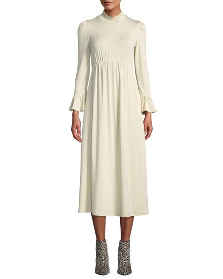 Rachel Pally Plus Size Amala Mock-Neck Long Dress In Cream | ModeSens